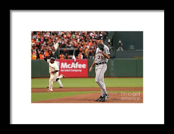 San Francisco Framed Print featuring the photograph Pablo Sandoval and Justin Verlander by Ezra Shaw