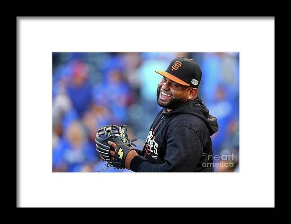 Game Two Framed Print featuring the photograph Pablo Sandoval by Dilip Vishwanat