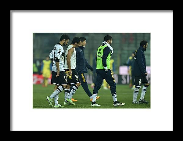 Sports Ball Framed Print featuring the photograph Parma FC v AC Chievo Verona - Serie A by Valerio Pennicino