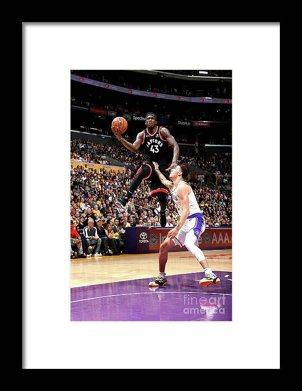 Nba Pro Basketball Framed Print featuring the photograph Pascal Siakam by Andrew D. Bernstein