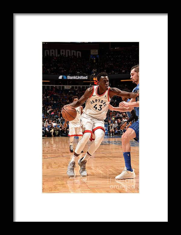 Nba Pro Basketball Framed Print featuring the photograph Pascal Siakam by Gary Bassing