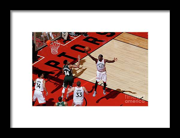 Playoffs Framed Print featuring the photograph Pascal Siakam by Mark Blinch