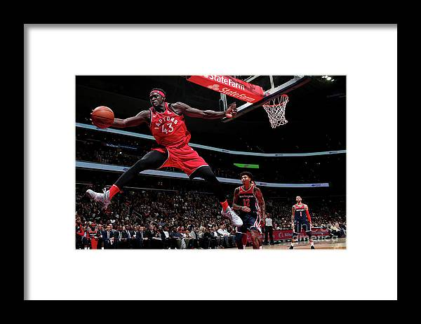 Nba Pro Basketball Framed Print featuring the photograph Pascal Siakam by Ned Dishman