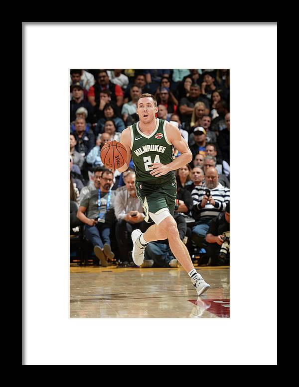 Nba Pro Basketball Framed Print featuring the photograph Pat Connaughton by Noah Graham