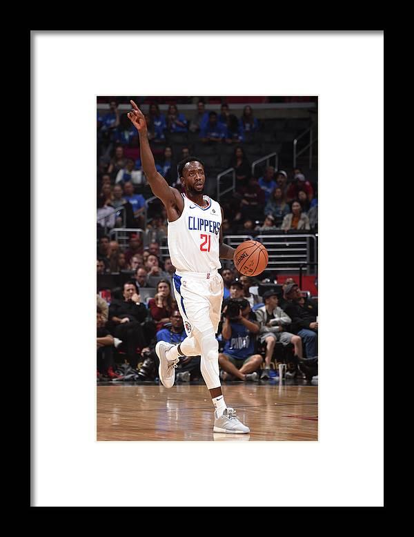Nba Pro Basketball Framed Print featuring the photograph Patrick Beverley by Adam Pantozzi