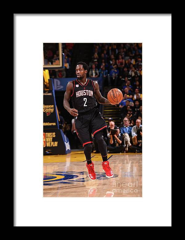Nba Pro Basketball Framed Print featuring the photograph Patrick Beverley by Noah Graham