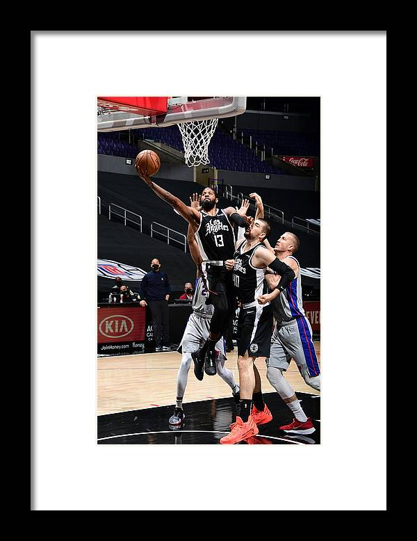 Nba Pro Basketball Framed Print featuring the photograph Paul George by Adam Pantozzi