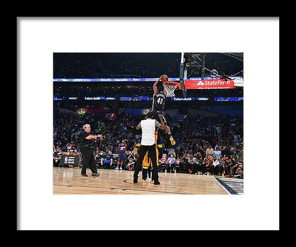 Event Framed Print featuring the photograph Paul George and Glenn Robinson by Jesse D. Garrabrant