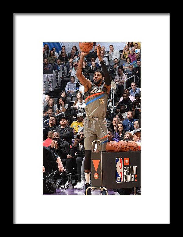 Event Framed Print featuring the photograph Paul George by Andrew D. Bernstein