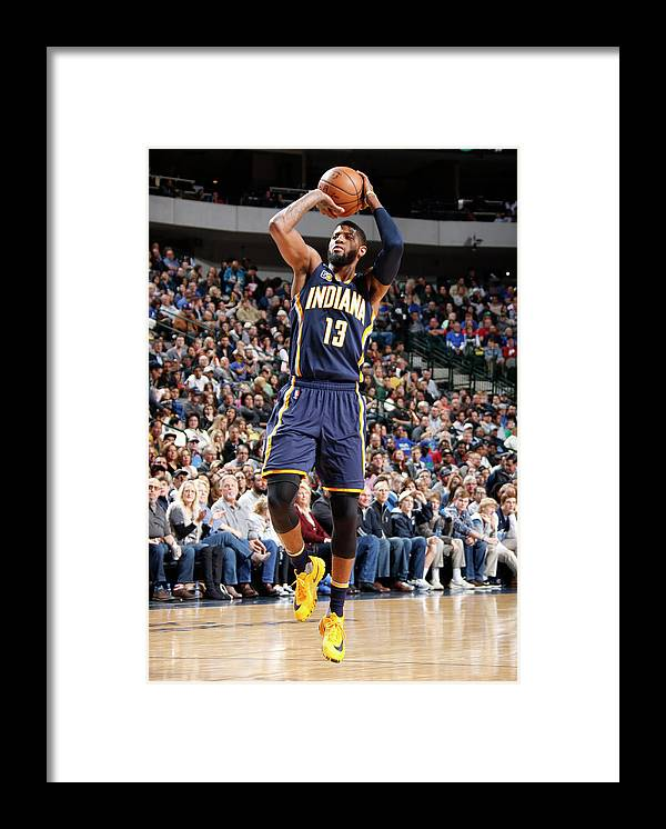 Nba Pro Basketball Framed Print featuring the photograph Paul George by Danny Bollinger