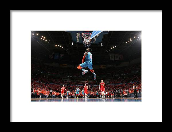 Playoffs Framed Print featuring the photograph Paul George by Joe Murphy