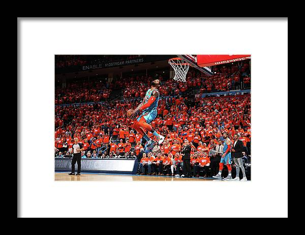 Playoffs Framed Print featuring the photograph Paul George by Zach Beeker