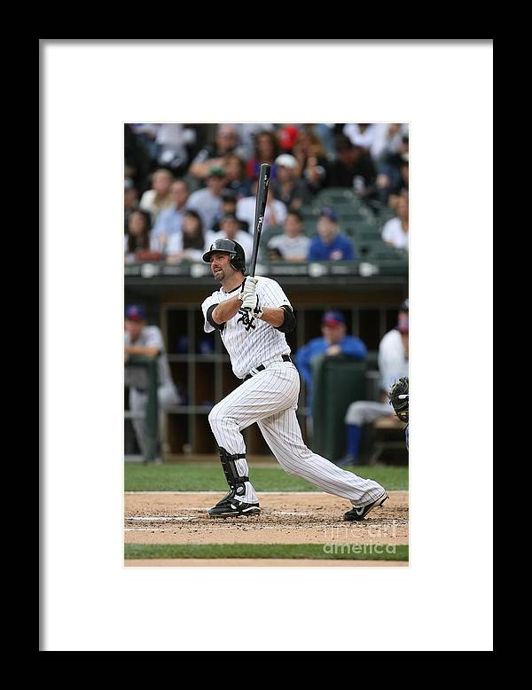 American League Baseball Framed Print featuring the photograph Paul Konerko by Ron Vesely
