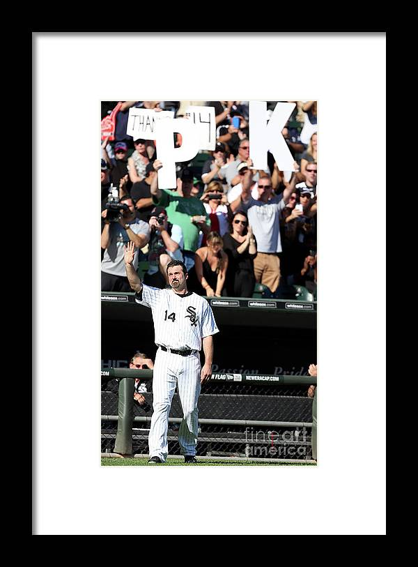 American League Baseball Framed Print featuring the photograph Paul Konerko by Tasos Katopodis