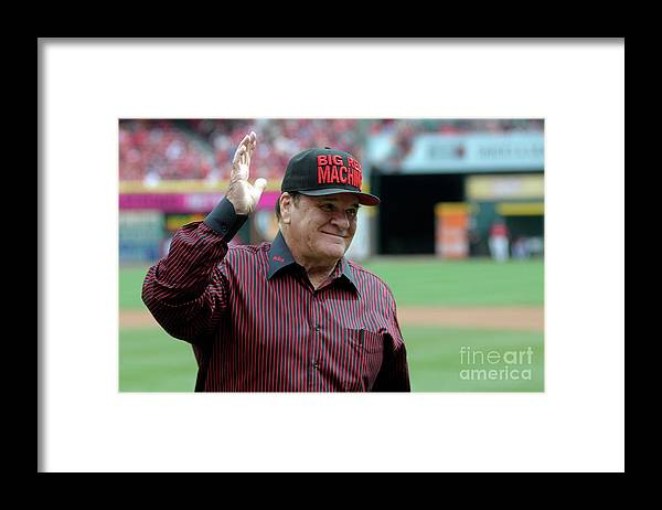 Great American Ball Park Framed Print featuring the photograph Pete Rose by Dylan Buell