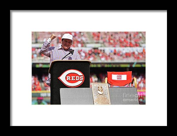 Great American Ball Park Framed Print featuring the photograph Pete Rose by Jamie Sabau