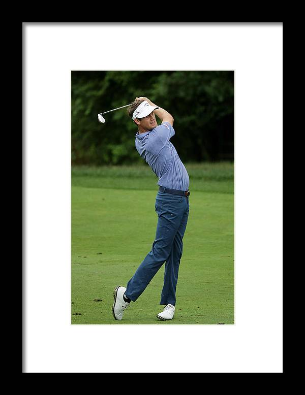 People Framed Print featuring the photograph PGA Championship - Final Round by Streeter Lecka