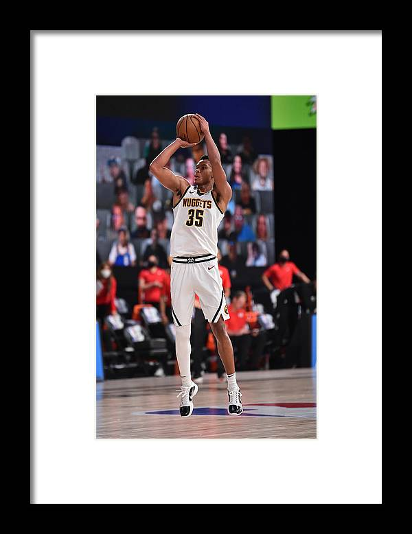 Nba Pro Basketball Framed Print featuring the photograph Portland Trail Blazers v Denver Nuggets by David Dow