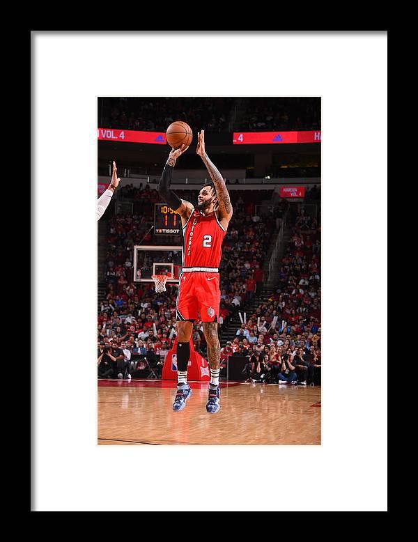 Nba Pro Basketball Framed Print featuring the photograph Portland Trail Blazers v Houston Rockets by Bill Baptist