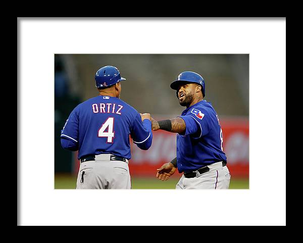 Three Quarter Length Framed Print featuring the photograph Prince Fielder by Ezra Shaw