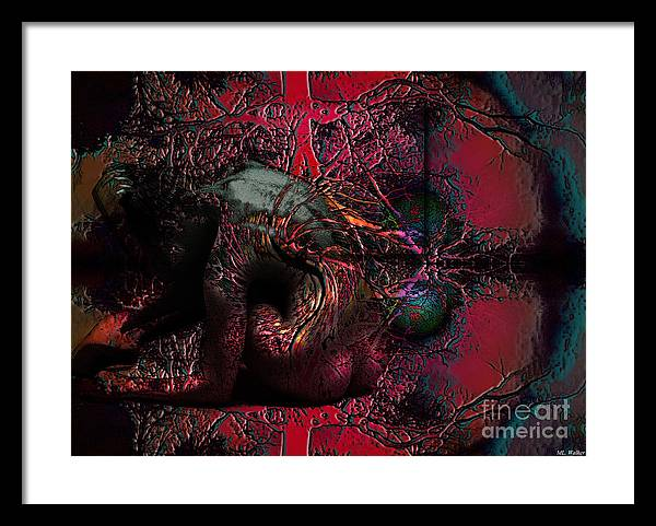 Abstarct Framed Print featuring the mixed media Private Dancer by ML Walker