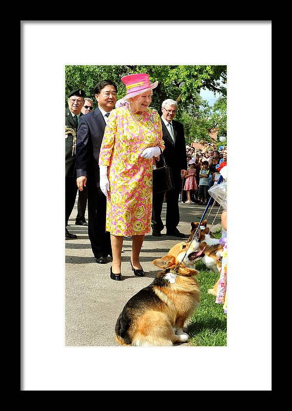 Pets Framed Print featuring the photograph Queen Elizabeth II Visits Canada - Day 6 by WPA Pool