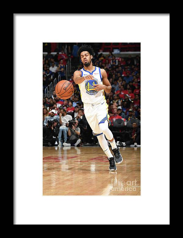 Playoffs Framed Print featuring the photograph Quinn Cook by Andrew D. Bernstein