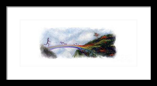 Rainbow Bridge Framed Print featuring the painting Rainbow Bridge II by Stella Violano
