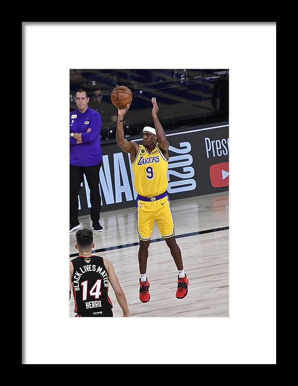 Playoffs Framed Print featuring the photograph Rajon Rondo by Fernando Medina