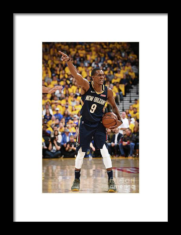 Playoffs Framed Print featuring the photograph Rajon Rondo by Garrett Ellwood