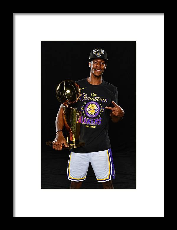 Playoffs Framed Print featuring the photograph Rajon Rondo by Jesse D. Garrabrant