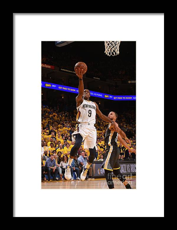 Playoffs Framed Print featuring the photograph Rajon Rondo by Noah Graham