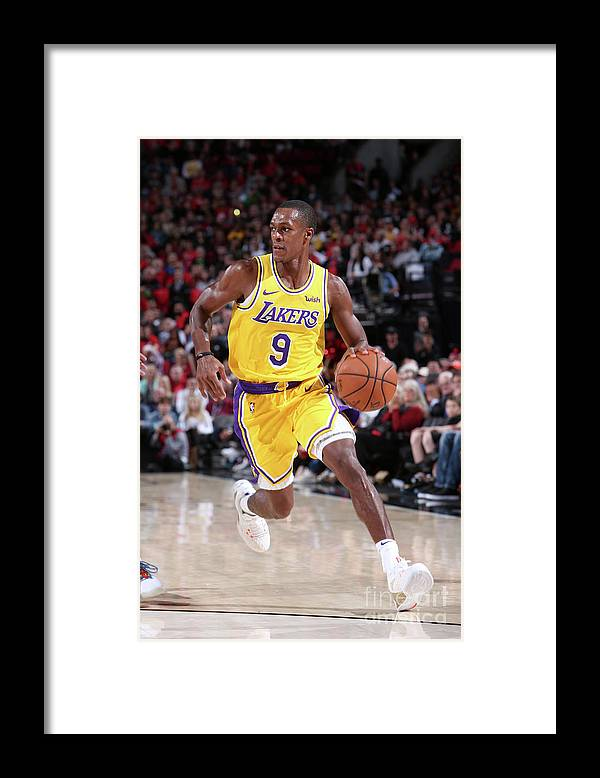Nba Pro Basketball Framed Print featuring the photograph Rajon Rondo by Sam Forencich