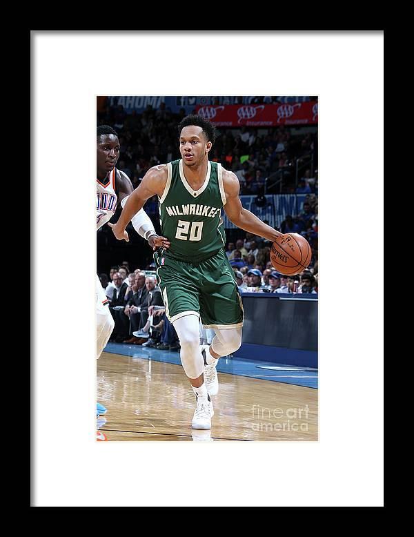 Nba Pro Basketball Framed Print featuring the photograph Rashad Vaughn by Layne Murdoch