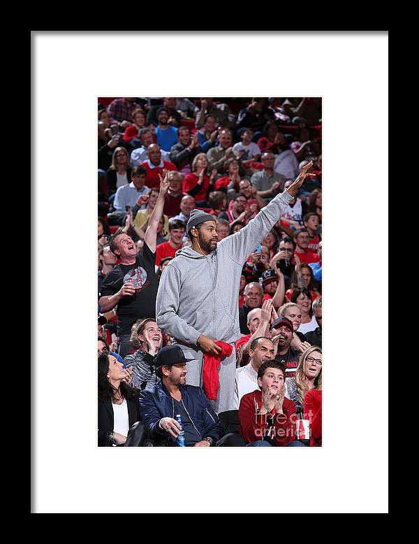 Nba Pro Basketball Framed Print featuring the photograph Rasheed Wallace by Sam Forencich