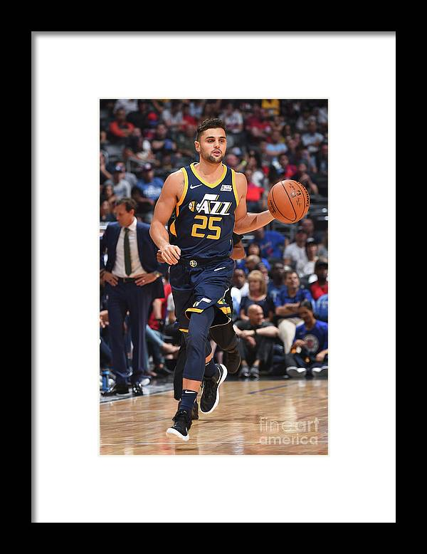 Nba Pro Basketball Framed Print featuring the photograph Raul Neto by Andrew D. Bernstein