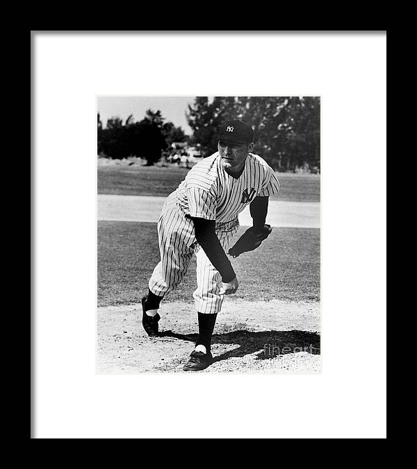 American League Baseball Framed Print featuring the photograph Red Ruffing by National Baseball Hall Of Fame Library