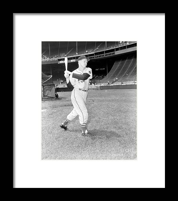 Red Schoendienst Framed Print featuring the photograph Red Schoendienst by Kidwiler Collection