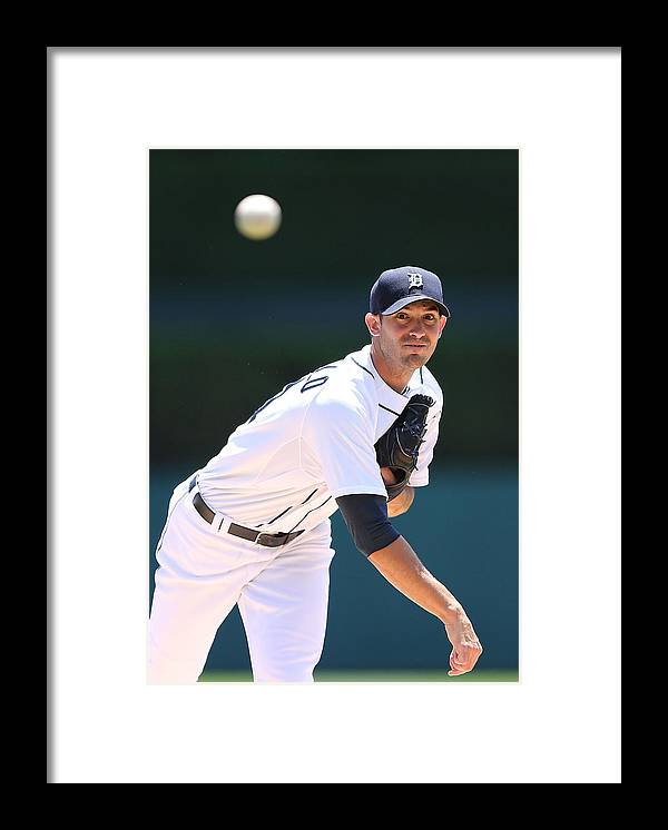 American League Baseball Framed Print featuring the photograph Rick Porcello by Leon Halip