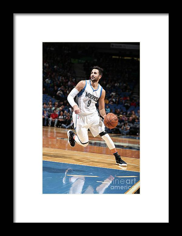 Nba Pro Basketball Framed Print featuring the photograph Ricky Rubio by David Sherman