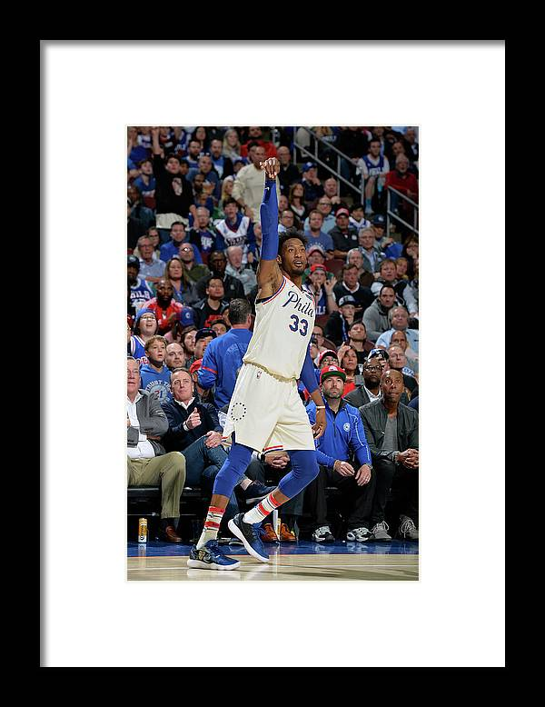 Playoffs Framed Print featuring the photograph Robert Covington by David Dow