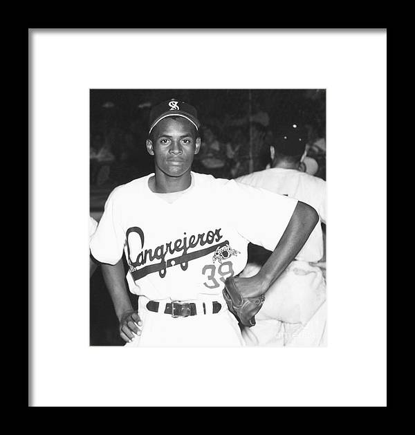 1950-1959 Framed Print featuring the photograph Roberto Clemente by National Baseball Hall Of Fame Library
