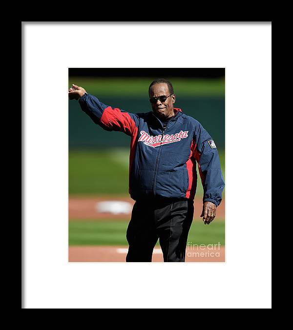 Three Quarter Length Framed Print featuring the photograph Rod Carew by Hannah Foslien