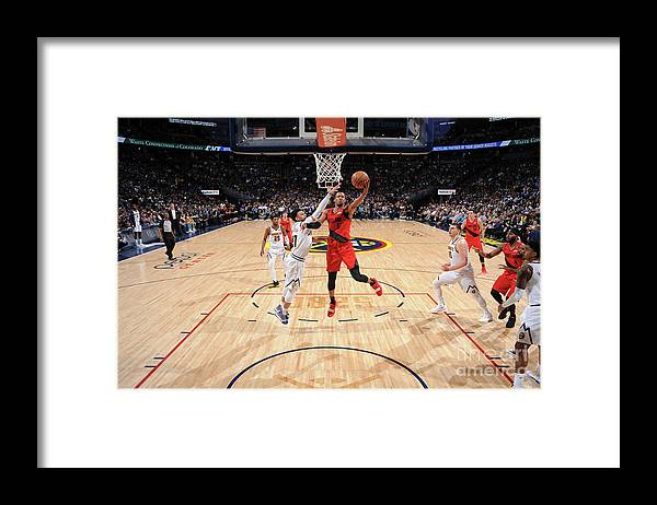 Playoffs Framed Print featuring the photograph Rodney Hood by Bart Young