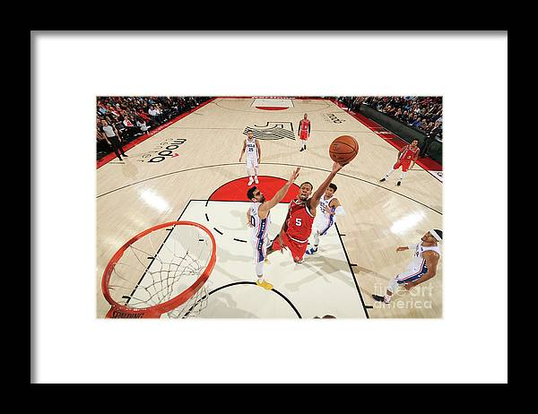 Nba Pro Basketball Framed Print featuring the photograph Rodney Hood by Cameron Browne