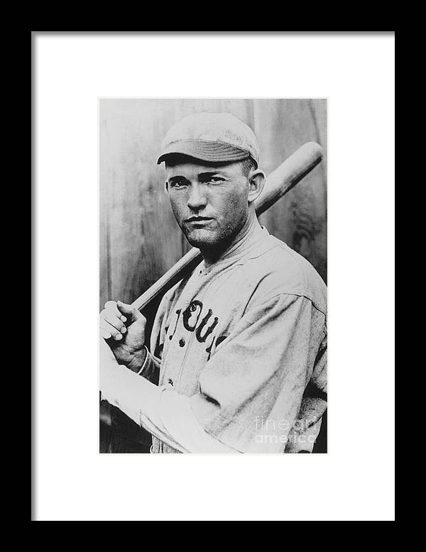 St. Louis Cardinals Framed Print featuring the photograph Rogers Hornsby by National Baseball Hall Of Fame Library