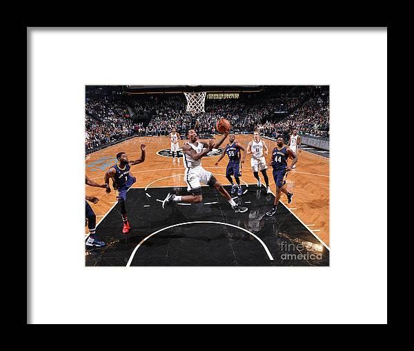 Nba Pro Basketball Framed Print featuring the photograph Rondae Hollis-jefferson by Jesse D. Garrabrant