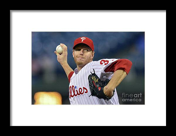 People Framed Print featuring the photograph Roy Halladay by Drew Hallowell