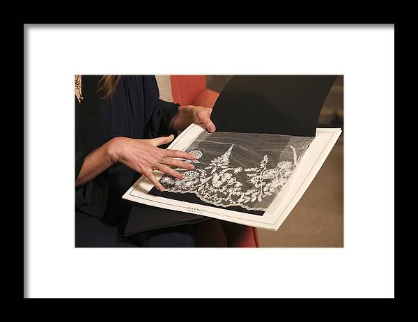 People Framed Print featuring the photograph Royal Wedding Dress Designer And Hairdresser Give Interviews by WPA Pool