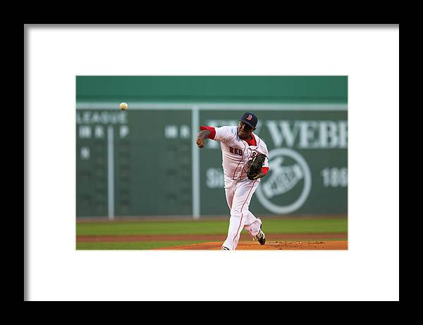 American League Baseball Framed Print featuring the photograph Rubby De La Rosa by Rich Gagnon